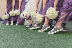 Check out how these real brides, grooms and bridal parties rocked the wedding sneaker trend, plus find out where you can score similar styles.