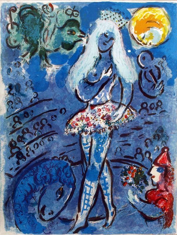 L'equilibriste, Le cirque, 1967, Marc Chagall  - Irma Bianchi Comunicazione