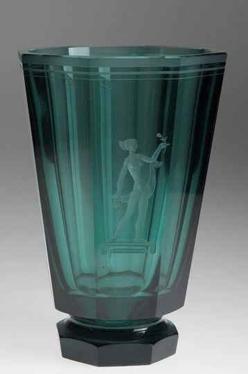 Orrefors Vase by Simon Gate 1920s
