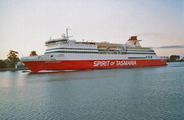 Spirit of Tasmania vehicle and passenger ferry, Melbourne to Devonport.