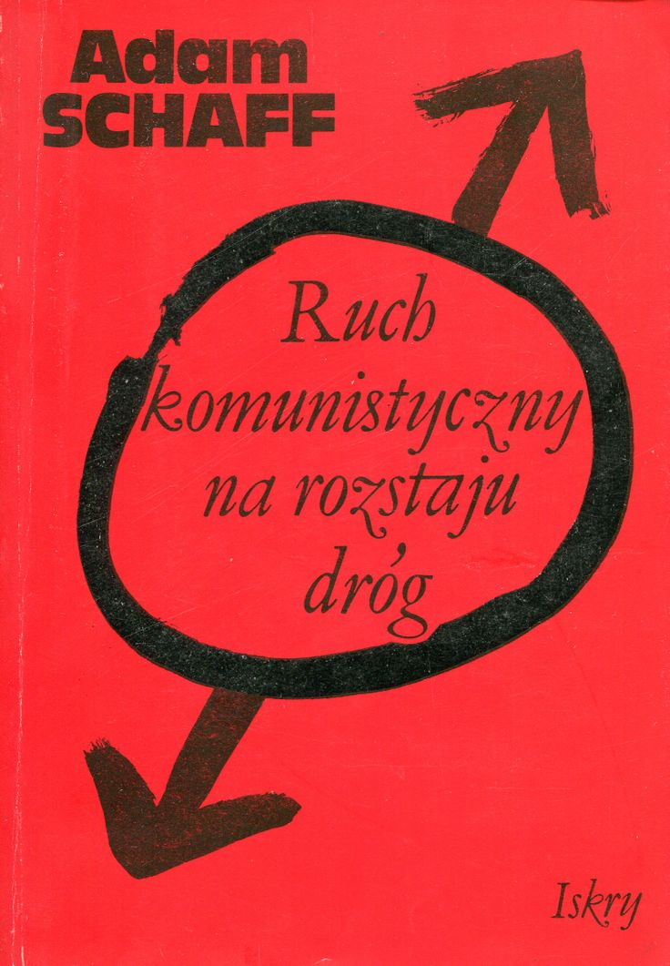 """""""Ruch komunistyczny na rozstaju dróg"""" Adam Schaff Cover by Jerzy Rozwadowski…"""