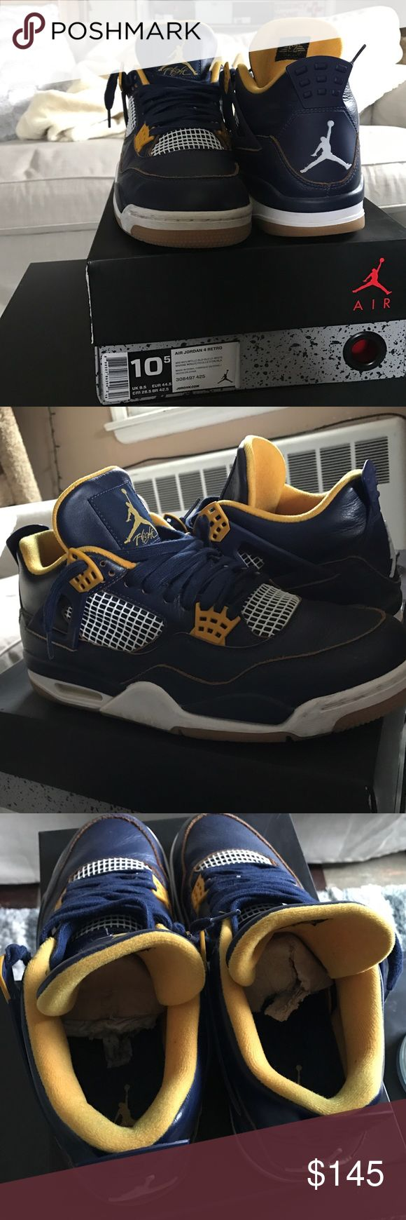 """Jordan Retro 4 """"dunk from above"""" Worn a couple times, has tiny creasing on heel and little in toe area. Comes with original box, inserts, and Jordan tag(just not shown in pic) 100% authentic. Make an Offer Jordan Shoes Sneakers"""