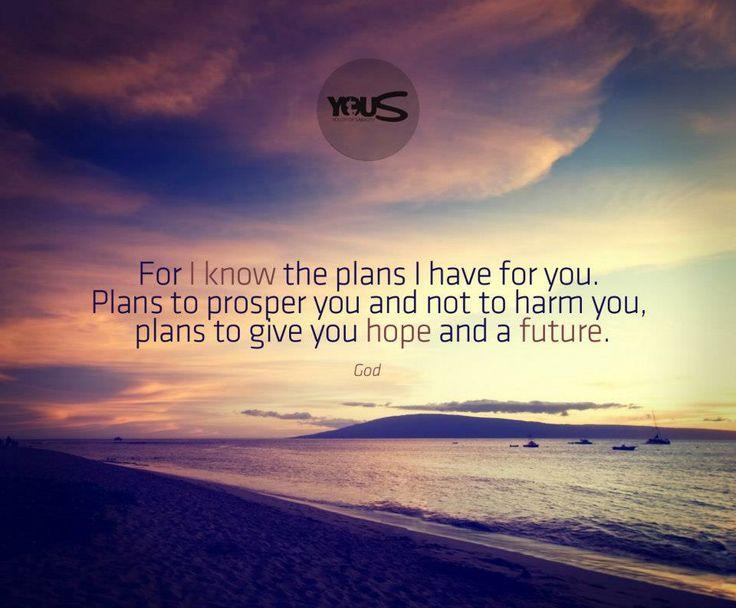 """""""Infatti Io so i pensieri che medito per voi"""", dice il Signore: """"pensieri di pace e non di male, per darvi un futuro e una speranza"""". Geremia 29:11"""