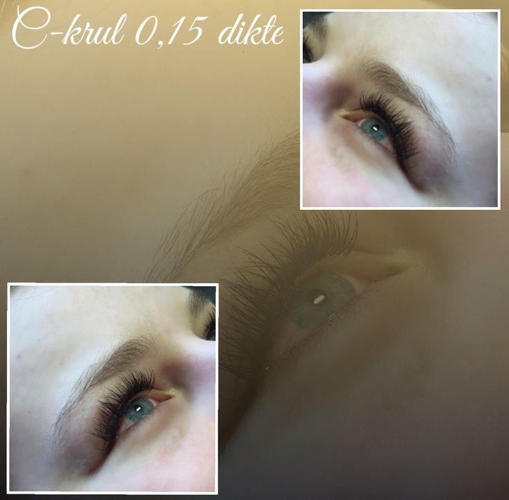 Eyelashes C-curl 0,15