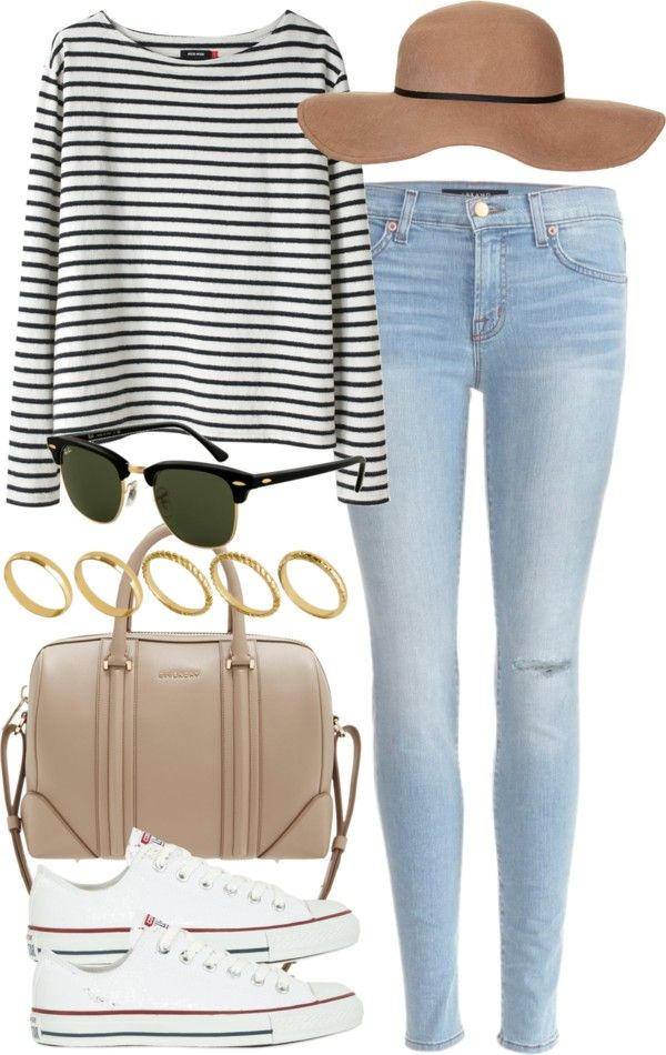 spring essentials: floppy hat, stripped top (full length or crop top), skinnies and chucks