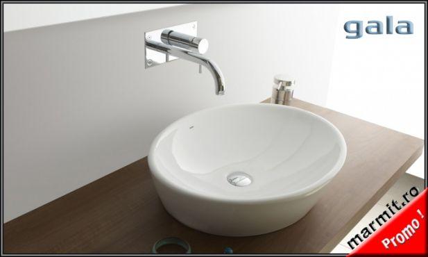 Lavoar oval Soft pe blat sau mobilier, obiecte sanitare, cazi de baie, cazi…