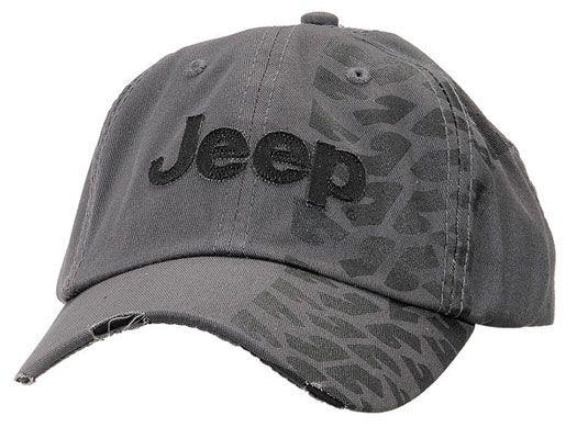 Mopar Distressed Charcoal Tire Track Jeep Cap