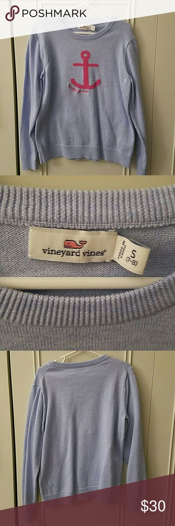 EUC Vineyard VINES girls blue sweater 7-8 In perfect condition. Worn once for pictures. Such a classic design and beautiful color! Vineyard Vines Shirts & Tops Sweaters