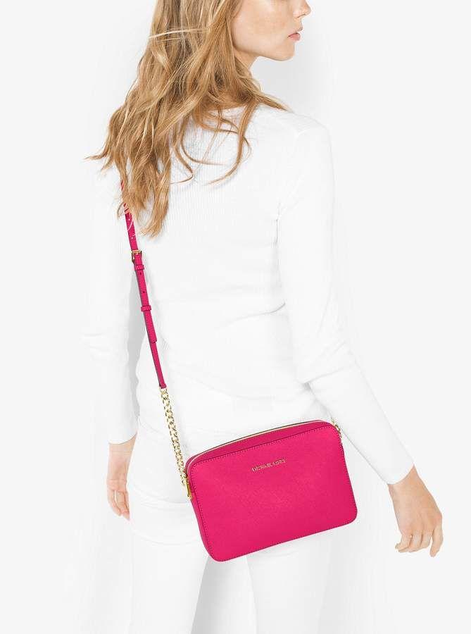 264e8d692359 Michael Michael Kors Jet Set Large Saffiano Leather Crossbody - #purses  #shopping #fashion #style #deals