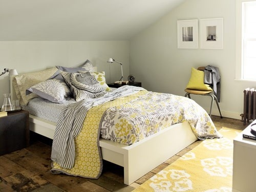 63 Best Black  White & Yellow Images On Pinterest  Guest Room Amazing Gray And Yellow Bedroom Designs Inspiration Design