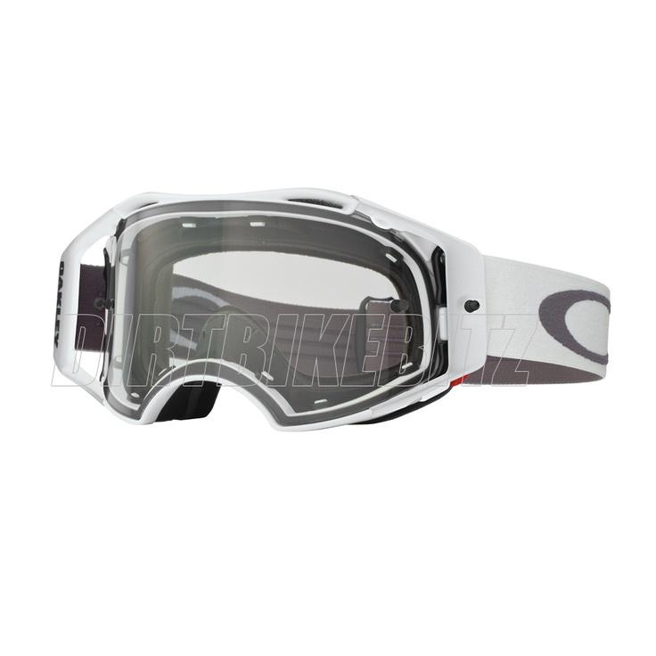 2013 Oakley Airbrake Mx Goggles - Matte White Speed Airbrake Goggle - 2013 Oakley Airbrake Mx Goggles - 2013 Motocross Gear -