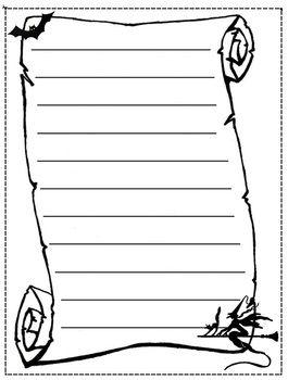 halloween creative writing templates