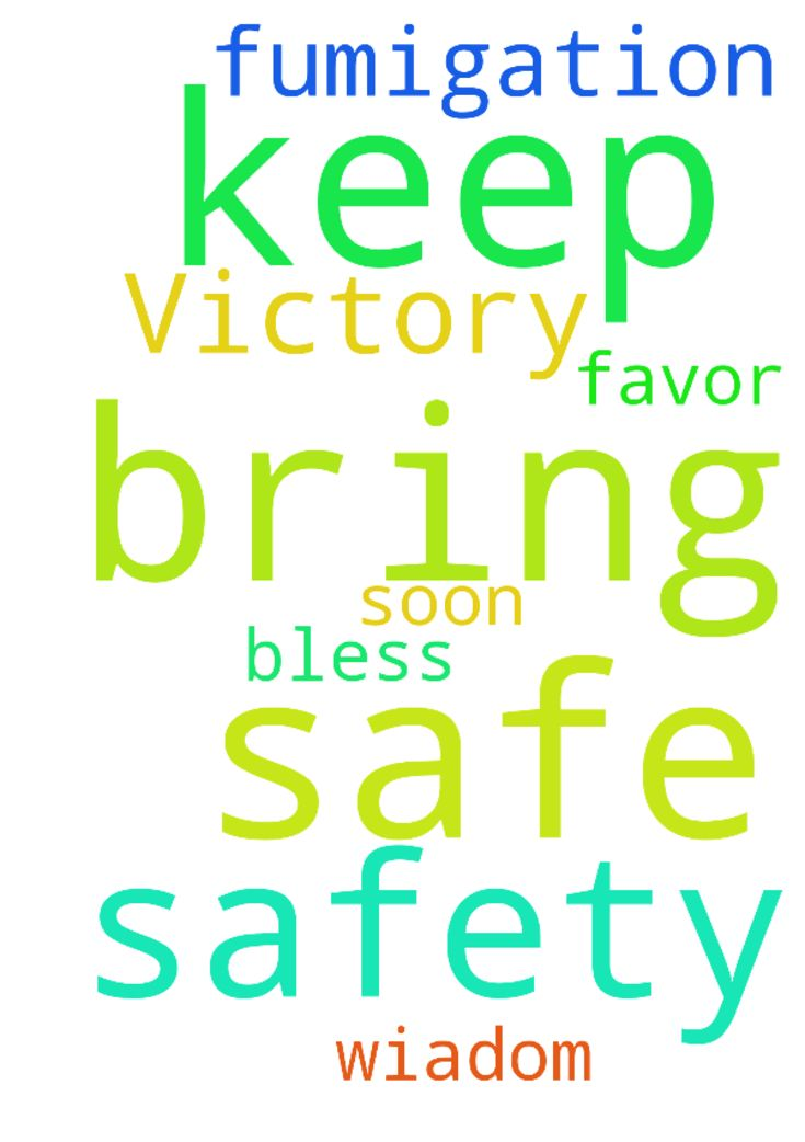 Safety & in fumigation keep us safe & bring Victory - Safety amp; in fumigation keep us safe amp; bring Victory wiadom amp; favor soon in all that we ask, bless all who pray  Posted at: https://prayerrequest.com/t/krR #pray #prayer #request #prayerrequest