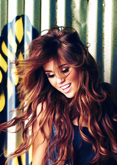 hair color - miley cyrus (the old Miley lols)  have to admit.. the girl used to have nice hair