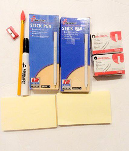 SkilCraft Stick pens , Universal Paper Clips , N0. 2 Pencil