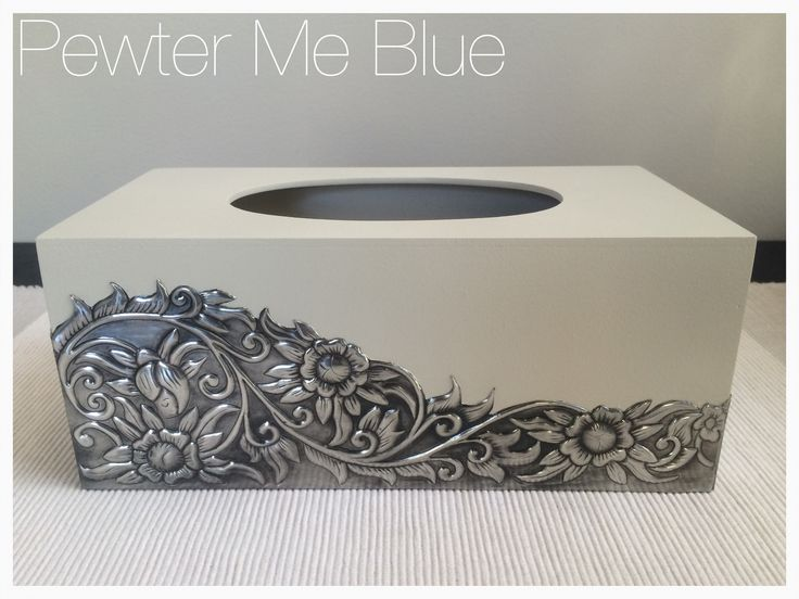 Tissue box by Yvonne at Pewter Me Blue www.fb.com/pewtermeblue- wow