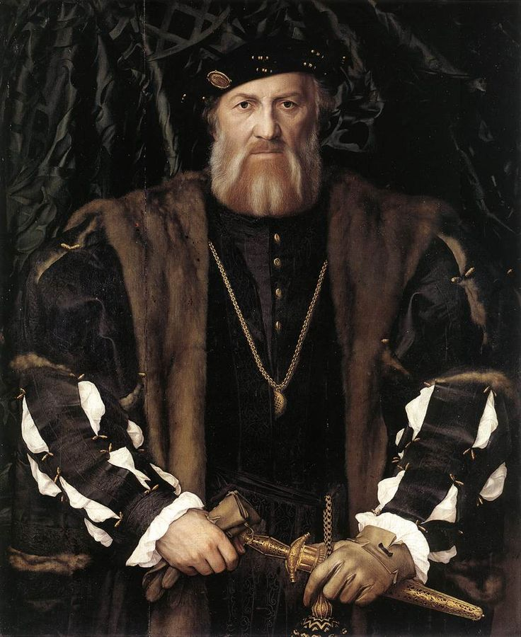 ~Hans Holbein the Younger, Portrait of Charles de Solier, Lord of Morette 1534-35 - Oak, 92,5 x 75,4 cm  Gemäldegalerie, Dresden