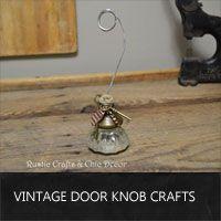 vintage door knob crafts