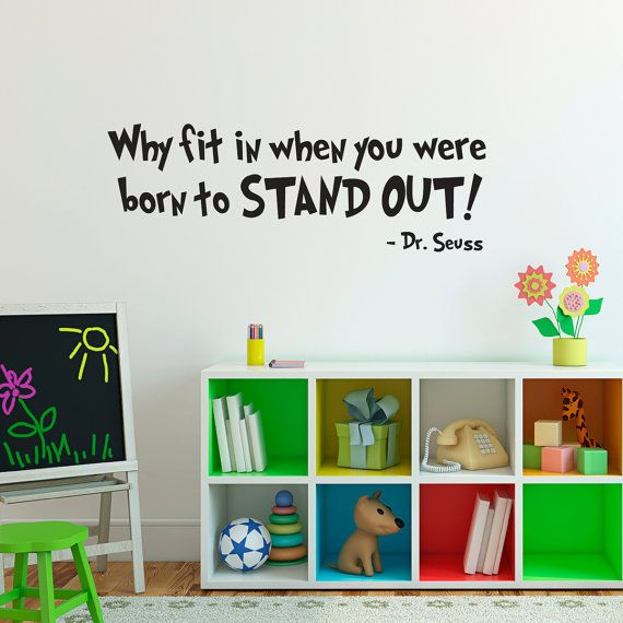 Born to Stand Out Wall Decal Quote  Large  by StephenEdwardGraphic, $26.00
