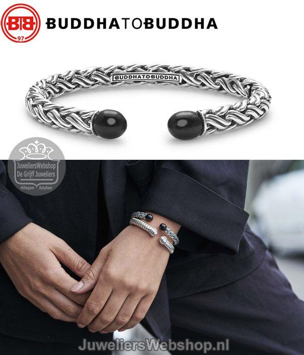 660efb2adfa7d6 Buddha to Buddha Armband Katja Torque Stone Bracelet Onyx. Luxe  slavenarmband met aan de uiteinden een onyx steen. #buddhatobuddha #btb  #sieraden #armband ...