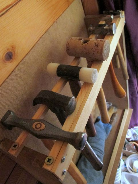 Hammer rack at the studio of Quercus silver. #jealous