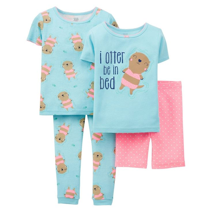 Just One You Made By Carter's Toddler Girls' Otter Pajamas
