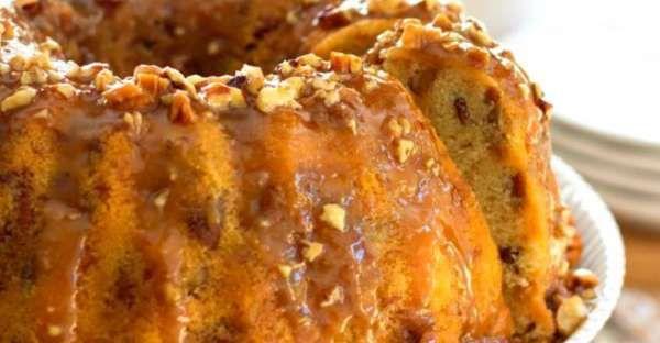Buttery Pecan Praline Buttermilk Pound Cake