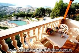 Our Skiathos Studios & Apartments are located in the area of St. Fanourios, a stone's throw from the beautiful town of Skiathos Island. It's a wonderful family run guesthouse for rent, with a variety of furnished rooms. These studios and apartments are ideal for families with young children, groups of friends or for couples planning a romantic retreat. All will be able to enjoy their holiday in a friendly complex of Skiathos town apartments, surrounded by the natural beauty of the island.