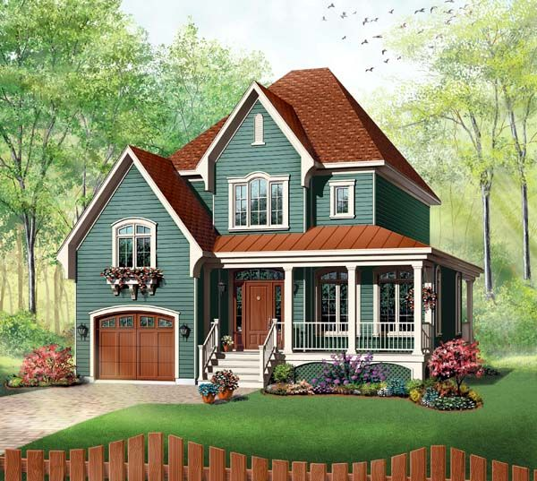 Elevation of Country   Farmhouse  Victorian   House Plan 65411