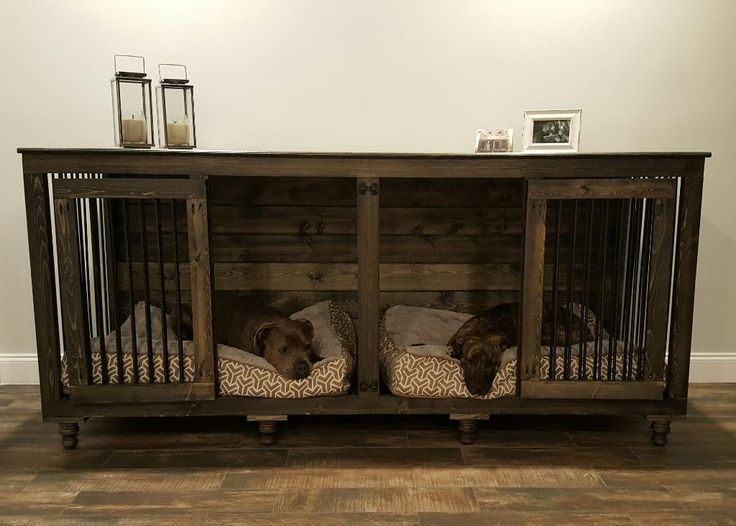 De 25 b sta id erna om dog crate furniture hittar du p pinterest hundbur Wooden crates furniture