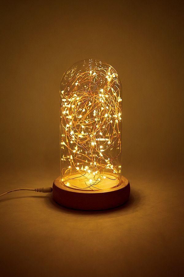 Slide View 1 Amber Bright Fairy Light Cloche Lamp