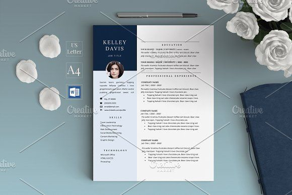 Professional Creative Resume Cv By Chic Resumes On Graphicsauthor Resume Design Template Creative Resume Resume Design Creative