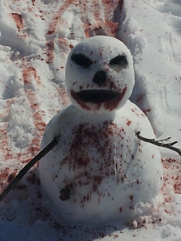 Zombie Snowman Funny Snowman Snow Fun Snowman