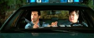 """Movie """" Hall Pass"""" (2011)  as Passenger Cop with Mike Cerrone as Driver Cop -  Zen Gesne"""