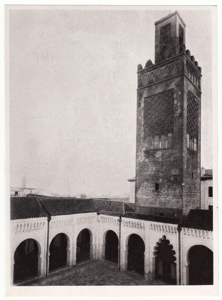 RIPRODUZ  FOTO EPOCA ANNI '50 ALGERIA TLEMCEN LA GRANDE MOSCHEA  -rif 2098