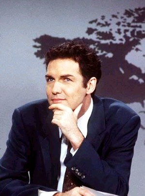 Norm MacDonald. It's mostly the personality but he looked good on Weekend Update.