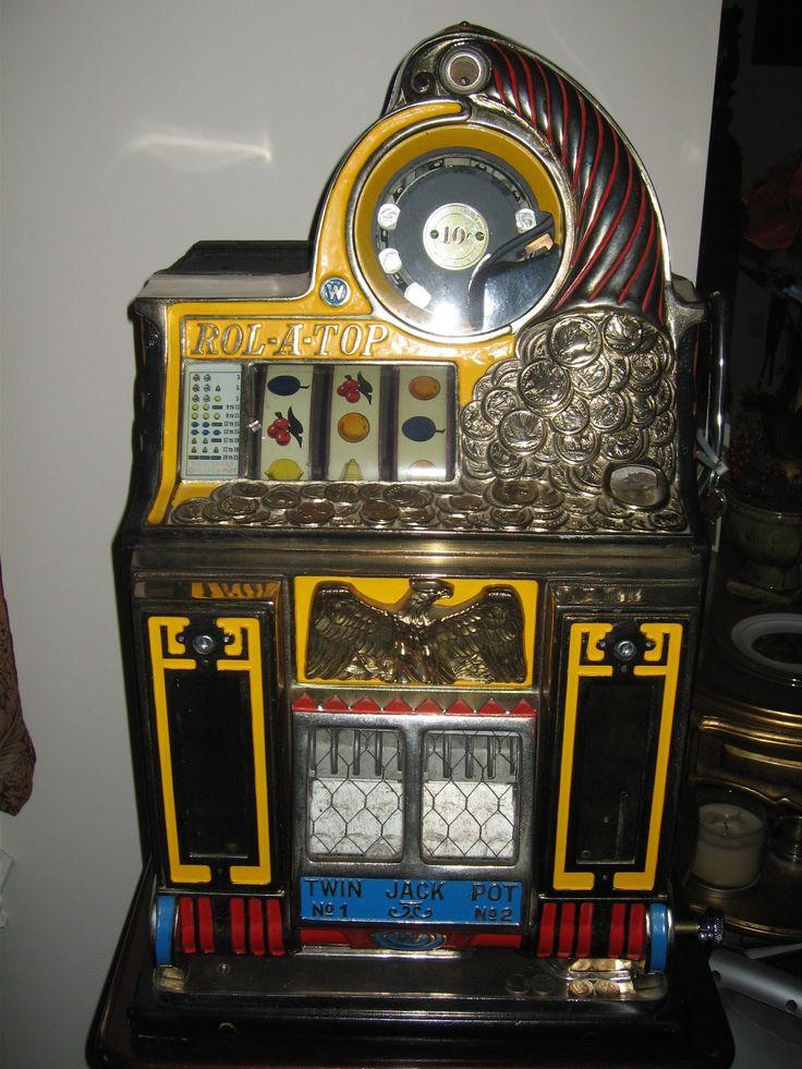 Watling Rol-A-Top Twin Jackpot Slot Machine with Mint Vendors, Watling Rol-A-Top Twin Jackpot Slot Machine with Mint Vendors   Circa 1930's original Watling Rol-A-Top 10 cent restored slot machine. The Rolls-R..., https://www.gameroomshow.com/product/antique-slot-machines/watling-rol-a-top-twin-jackpot-slot-machine-with-mint-vendors/, 4995.00,