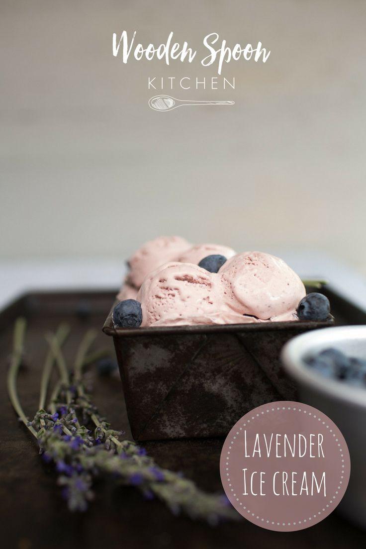 Lavender and lemon ice cream