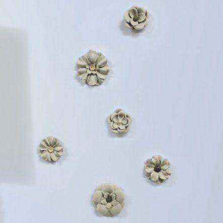 Roommates Craft Flower Embellishments, Beige