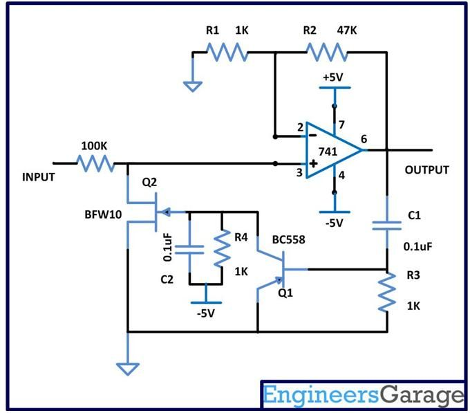Circuit Daigram of Automatic Gain Control with Amlifier