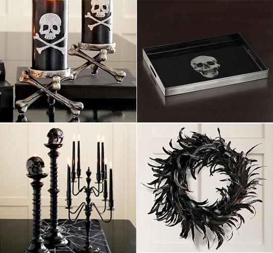 pottery barns halloween decor as year round goth decor more - Pottery Barn Halloween Decorations