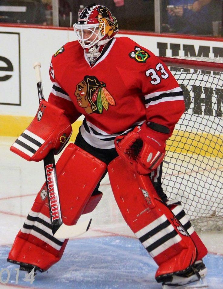 Goalie Scott Darling of the Chicago Blackhawks