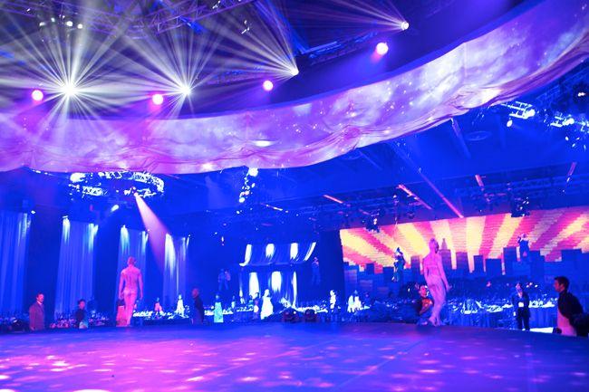 Corporate event at  Palais de congrès de Montréal 2010. Set Design by Ian Routhier. Photo: © ian Routhier