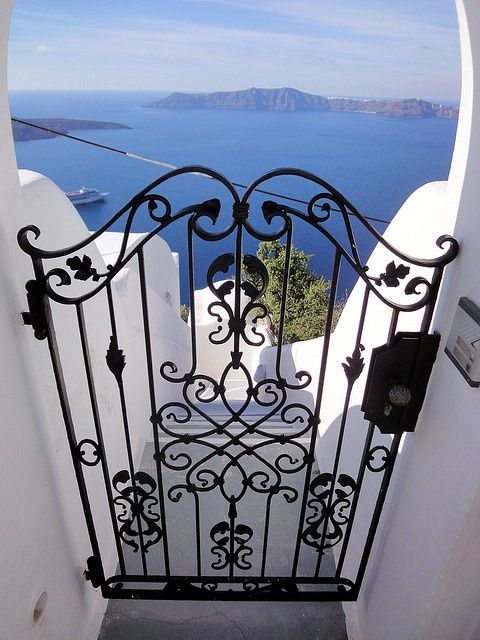 Judging by the view, this is Santorini