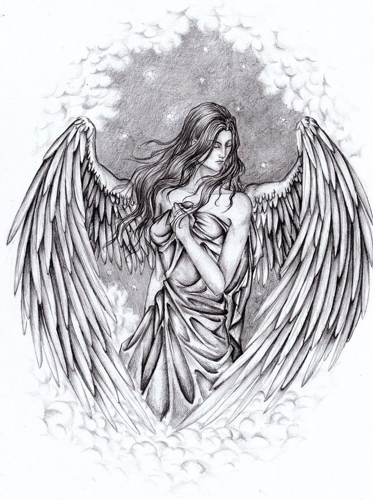 49 best images about Angel drawingS on Pinterest | Pencil ...
