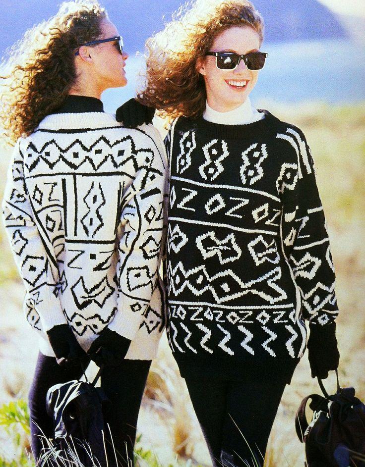 Vintage Inspiration: Photo Jenny Kee monochrome 1980s fashion
