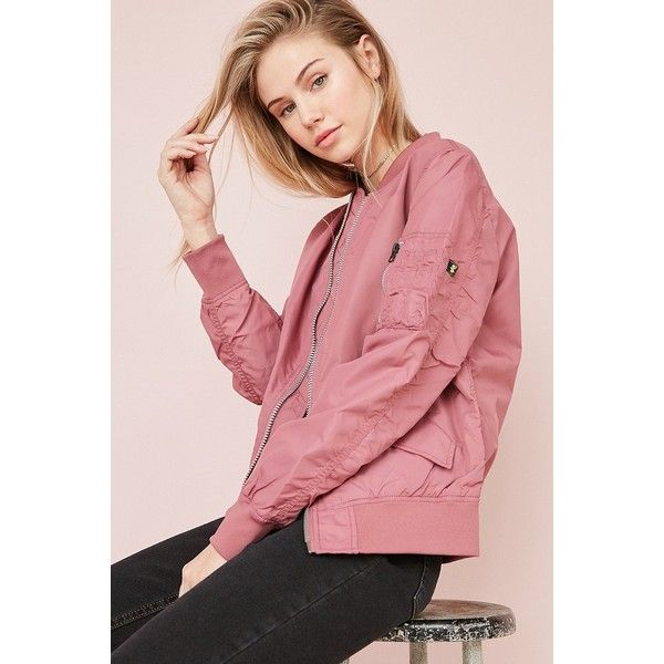Alpha Industries L2B Flight Jacket ($135) ❤ liked on Polyvore featuring outerwear, jackets, collared bomber jacket, red military jacket, military bomber jacket, lightweight bomber jacket and light weight jacket