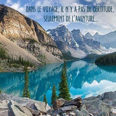 #citation #voyage #aventure #trip #lac #moraine #canada Hotels-live.com via https://www.instagram.com/p/BBVO_RZLw_-/
