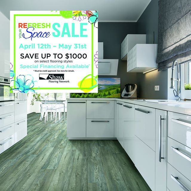 Spring Is Here And So Is Our Refresh Your Space Sale From Now Until May 31 You Can Save Up To 1 000 On Select Shaw Floo Shaw Flooring Flooring Sale Flooring