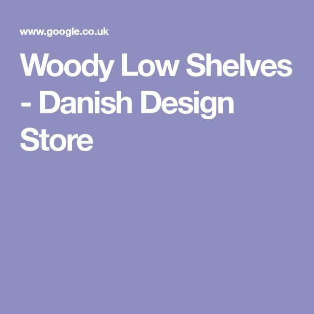 Woody Low Shelves - Danish Design Store